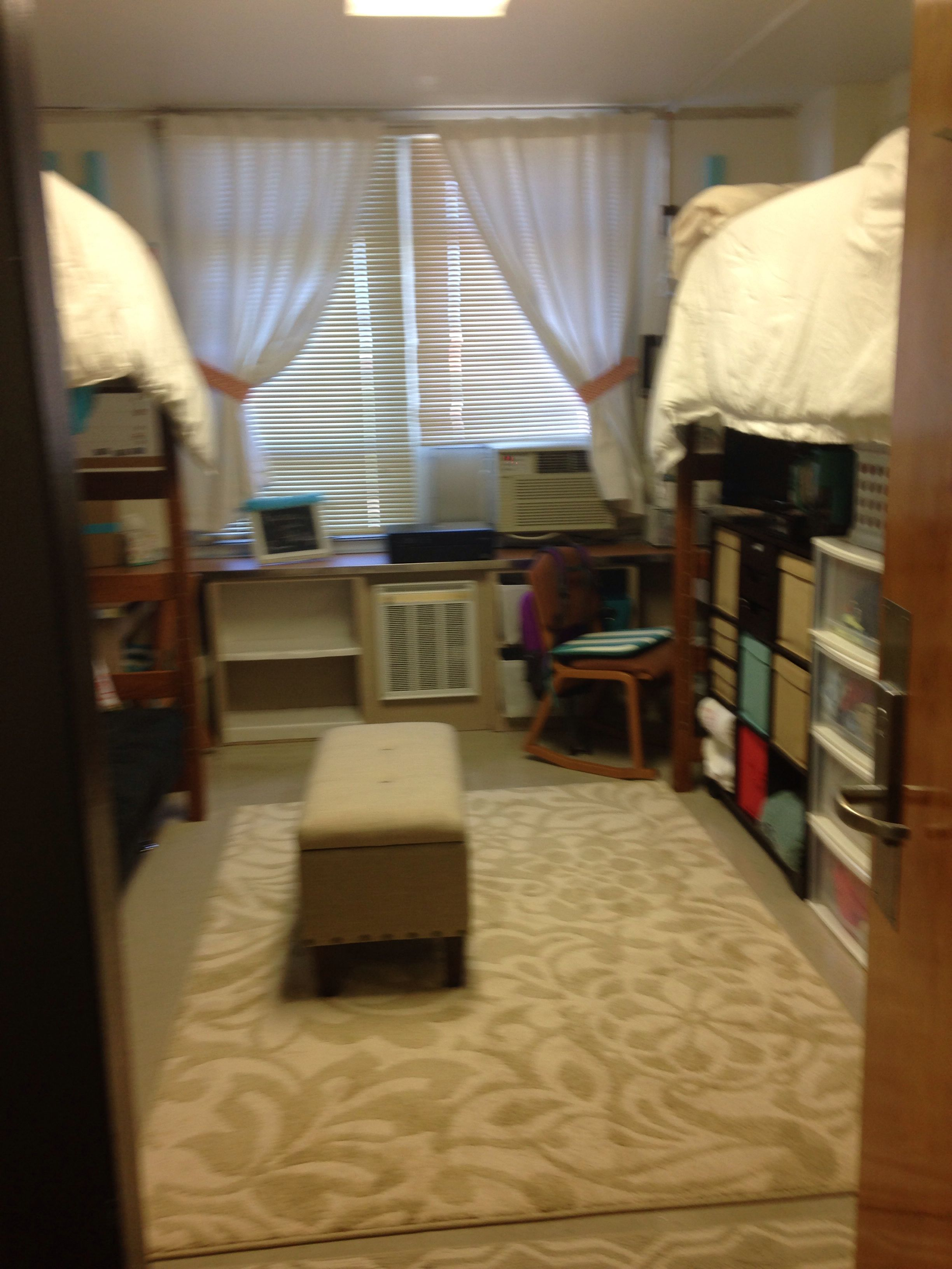 Dorm Room Ideas Lofted Bed Girls