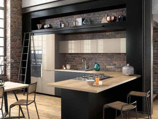 awesome Idée relooking cuisine - Modèle Melia DL noir verni mat et