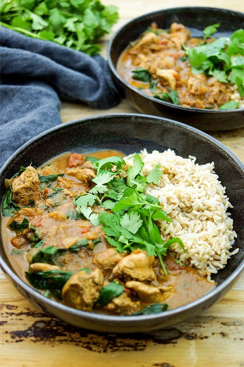 garam masala h hnchen curry mit spinat recipe fleisch. Black Bedroom Furniture Sets. Home Design Ideas