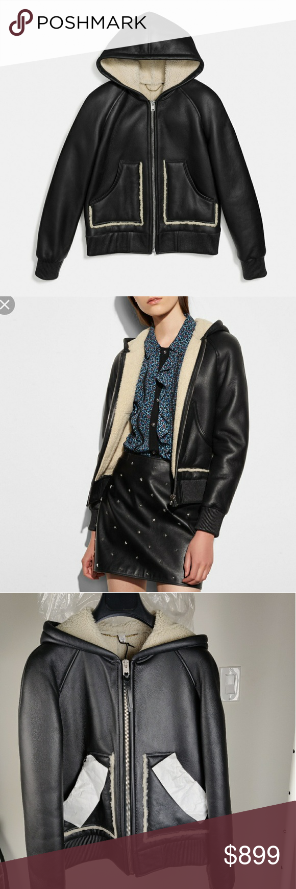 ️ COACH ️ authentic shearling leather jacket 🖤 NWT never