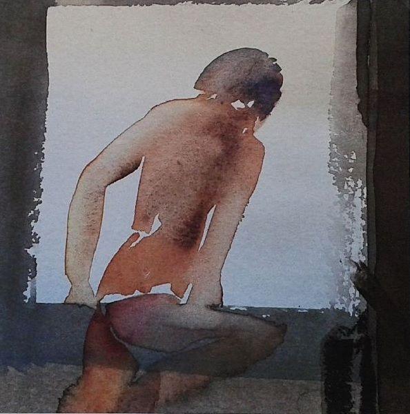 Nils Burwitz (b.1940) - Abstract Nude #limitededitionprints #nilsburwitz #abstractnudes