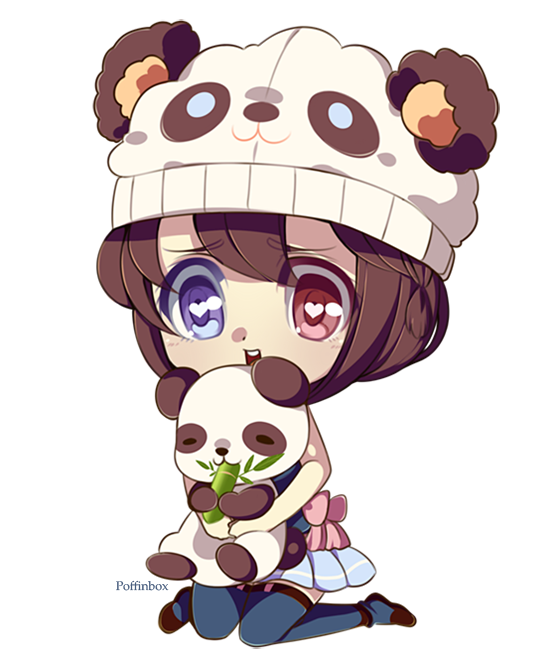 Anime Panda Girl Chibi