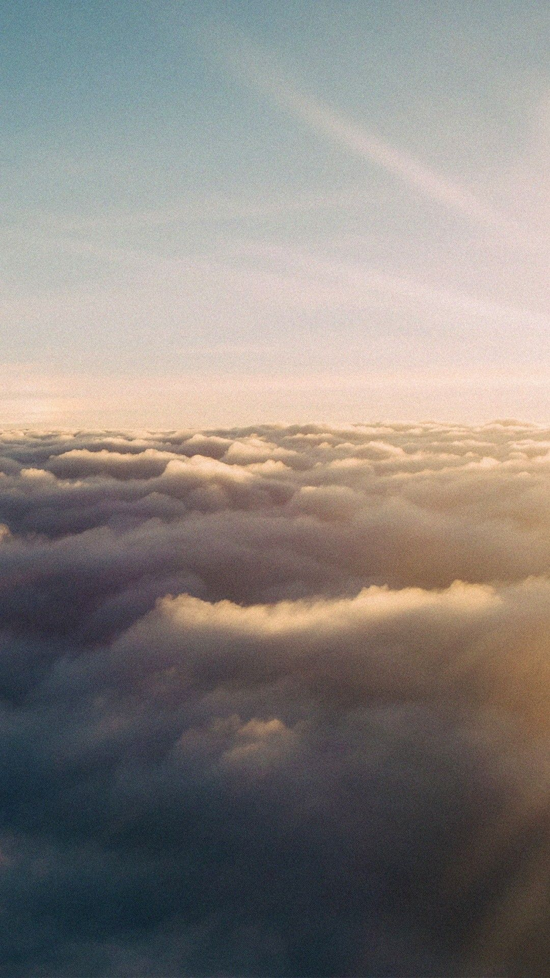 Sunset Above Clouds Iphone 6 Hd Wallpaper
