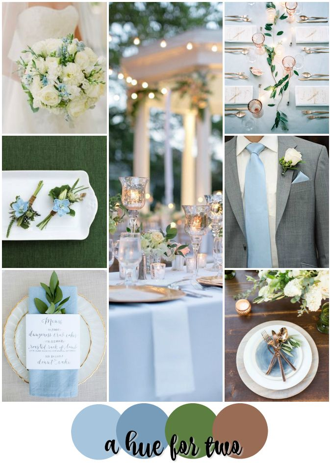 Light Blue, Green and Copper Classy Wedding Colour Scheme - Spring ...