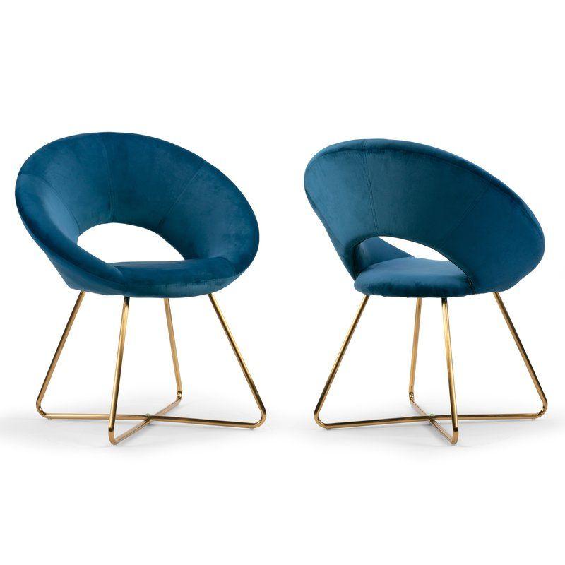 Guevara Upholstered Dining Chair Blue Velvet Dining Chairs Velvet Dining Chairs Side Chairs Dining