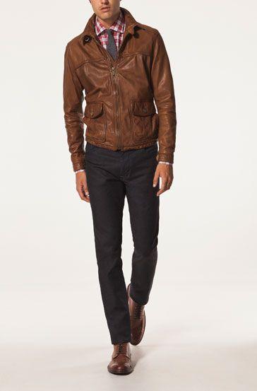 Massimo Dutti United States | Leather jacket men, Gentlemen