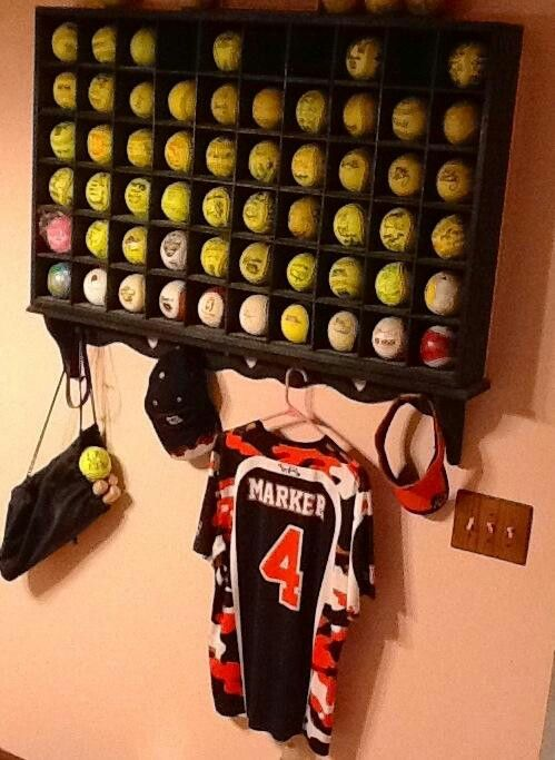 great idea for hr softball storage