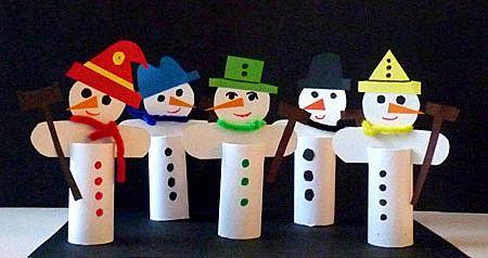 sneeuwpop knutselen met kleuters