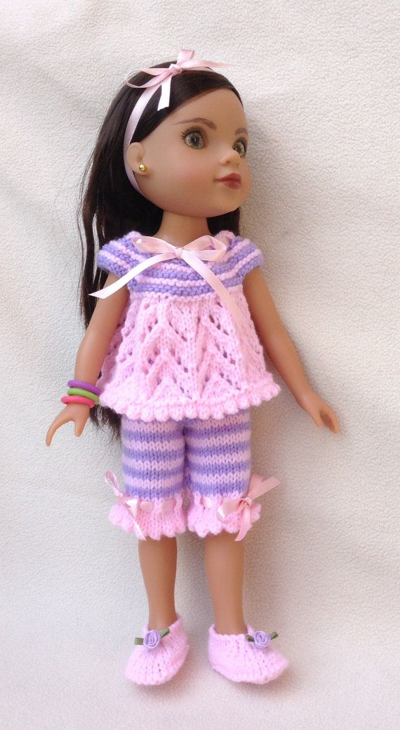 Knitting Patterns For 13 Inch Dolls : LC11 Pyjamas for 13 and 14 inch dolls PDF Knitting by ...