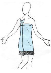 How to Tie a Sarong :: Sarong World.com Sarongs