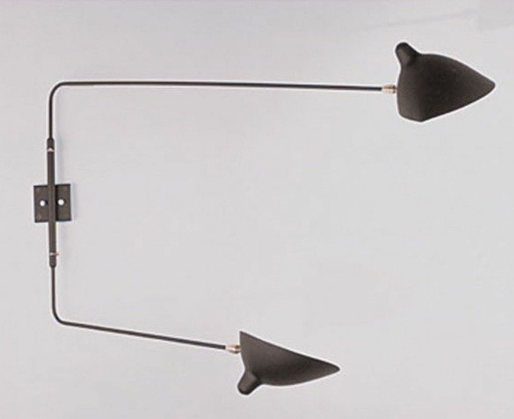 Rotating 2 Arm Wall Lamp Sconce Serge Mouille Lighting Modern Swing Amazing Ideas