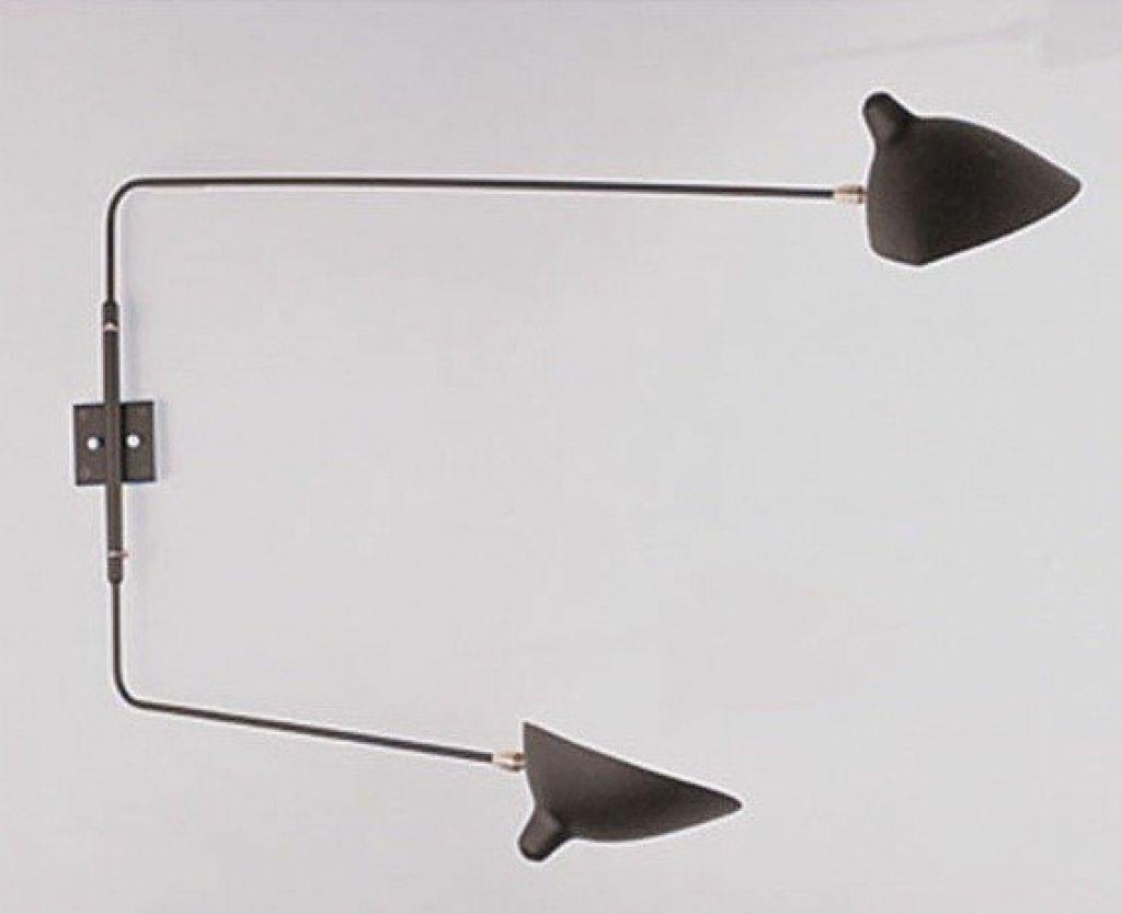 Rotating 2 Arm Wall Lamp Sconce Serge Mouille Lighting Modern Swing Amazing
