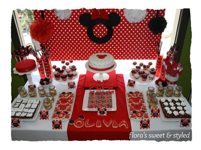 Minnie Mouse Birthday Party Ideas Photo 5 Of 24 Minnie Mouse