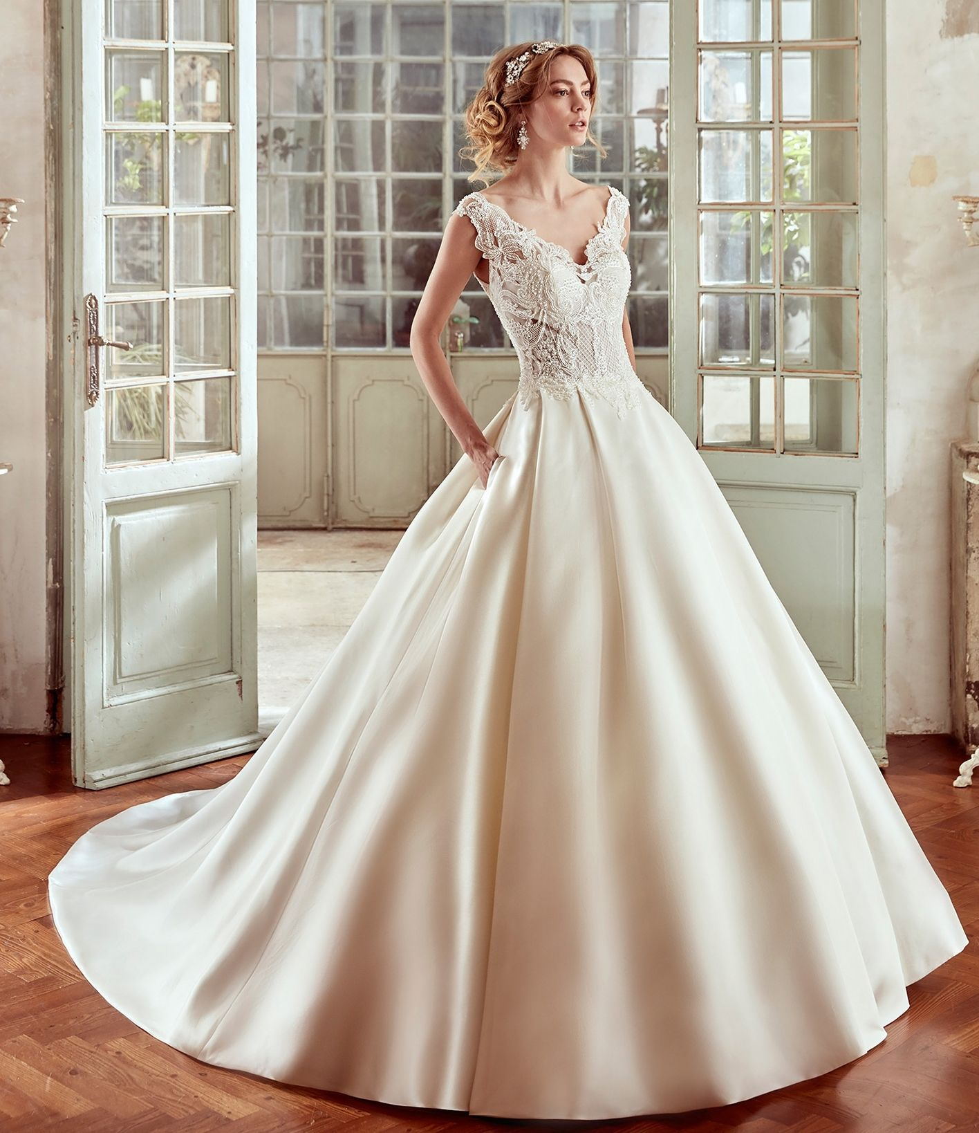 Clearance sample dress! Style 17024 by Nicole now on sale