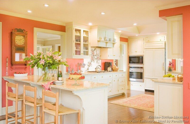 Pictures Of Kitchens Traditional White Kitchen Cabinets Page 5 Traditional White Kitchen Cabinets White Kitchen Traditional Coral Kitchen