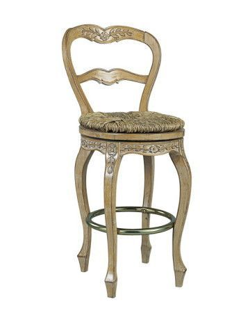 French Ladderback Counter Height Swivel Stool Swivel Stool French Country Bar Stools Bar Stools