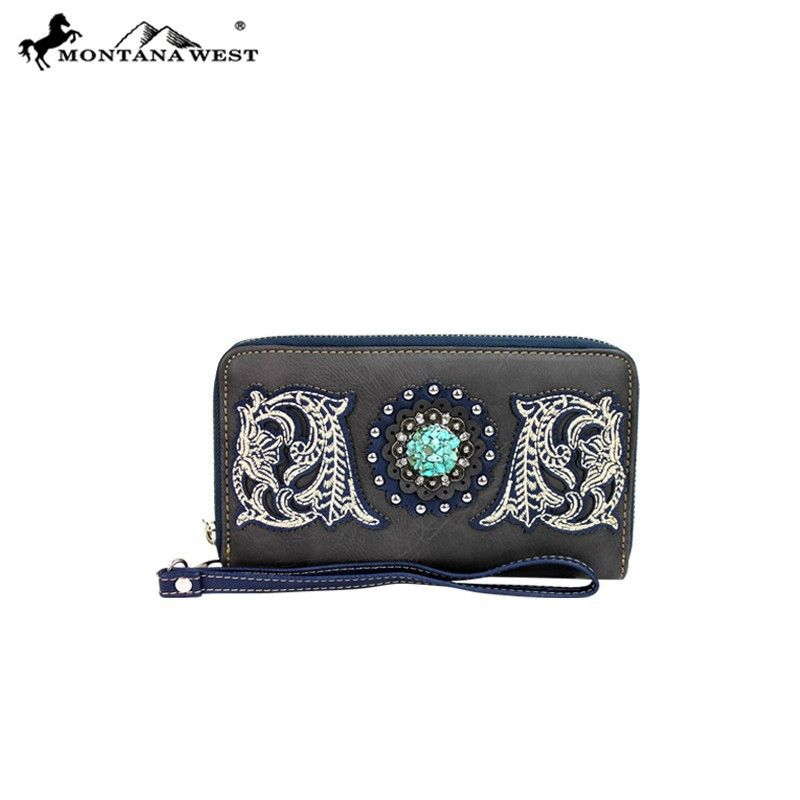Montana West Turquoise Concho Collection Wristlet Wallet – Handbag Addict.com