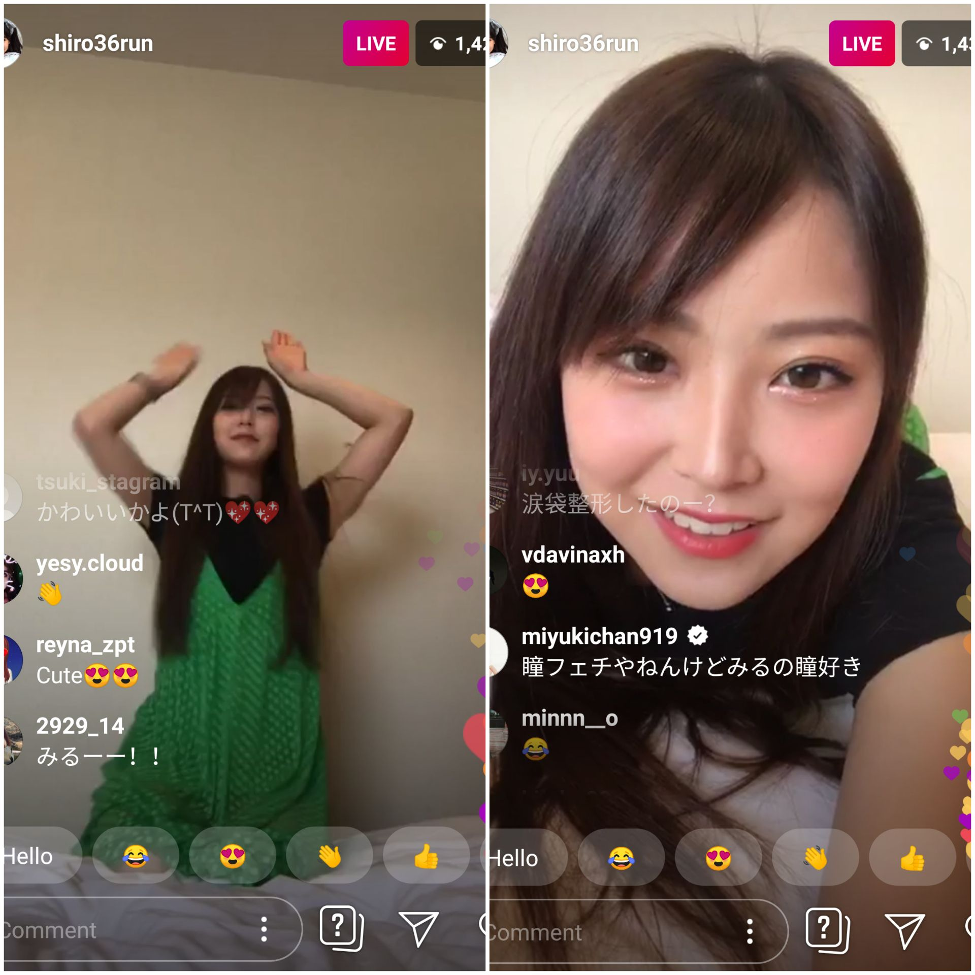 Mirurun's Instagram LIVE. She's cheeky and adorable and