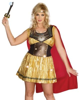 plus size costume, gladiator, princess, gold, warrior princess ...