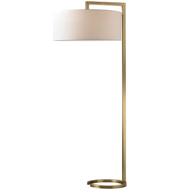 Antiqued Brass Loop Base Floor Lamp Floor Lamp Floor Lamp Shades Brass Floor Lamp