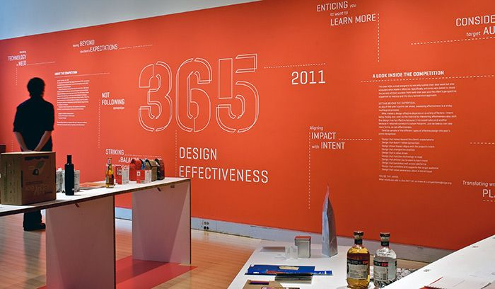 Elegant AIGA Wall Mural Typography | Poulin + Morris · Environmental GraphicsWall  ...