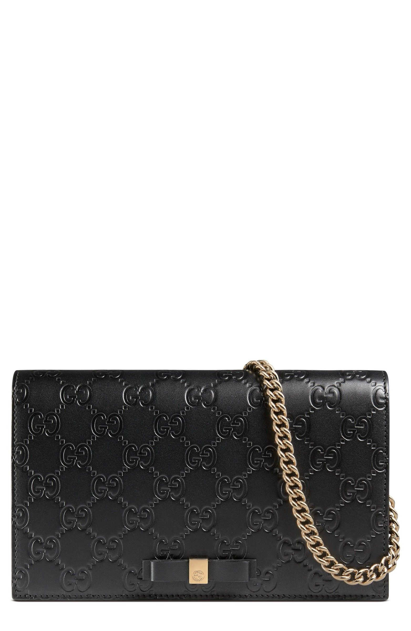 ba332f8c2e0d Love the simplicity of this bag. It will last forever. - Gucci Signature Leather  Wallet on a Chain