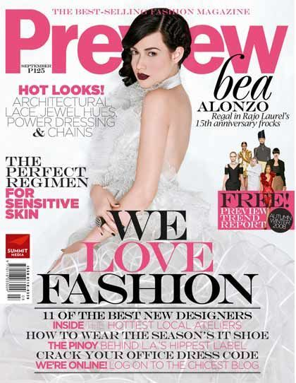 Preview Magazine Philippines September 2008 Bea Alonzo