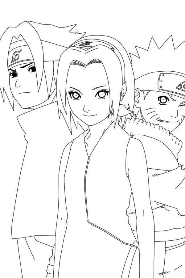 Team 7 Lineart By Crypticriddlers On Deviantart Naruto Sketch Team 7 Drawings