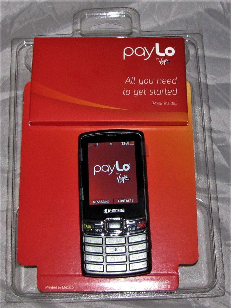Kyocera s3150 paylo by virgin mobile black v65s3150 slider