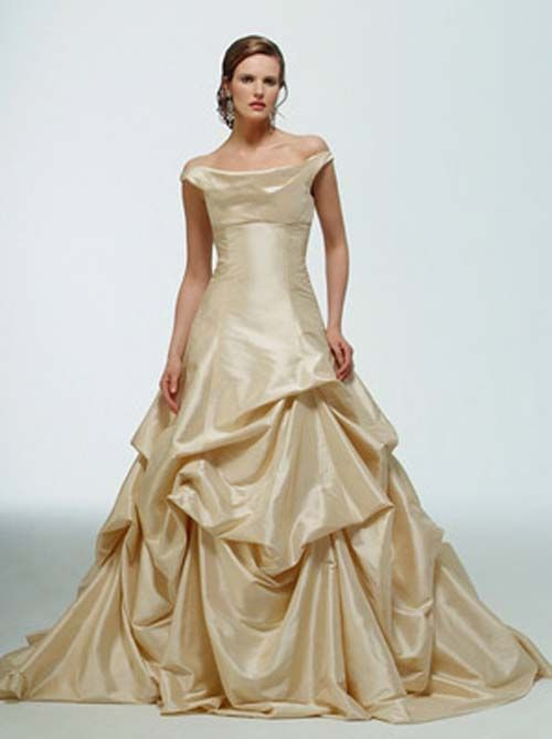 wedding dresses with color | Wedding Fashion » champagne-colored ...