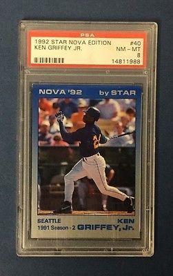 a259ff9df4 KEN GRIFFEY JR 1992 STAR NOVA EDITION /500, # 40, PSA Graded NM-MT 8,  Mariners
