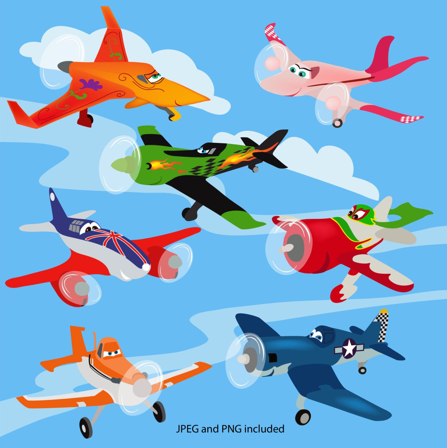 Disney Planes Characters Clipart