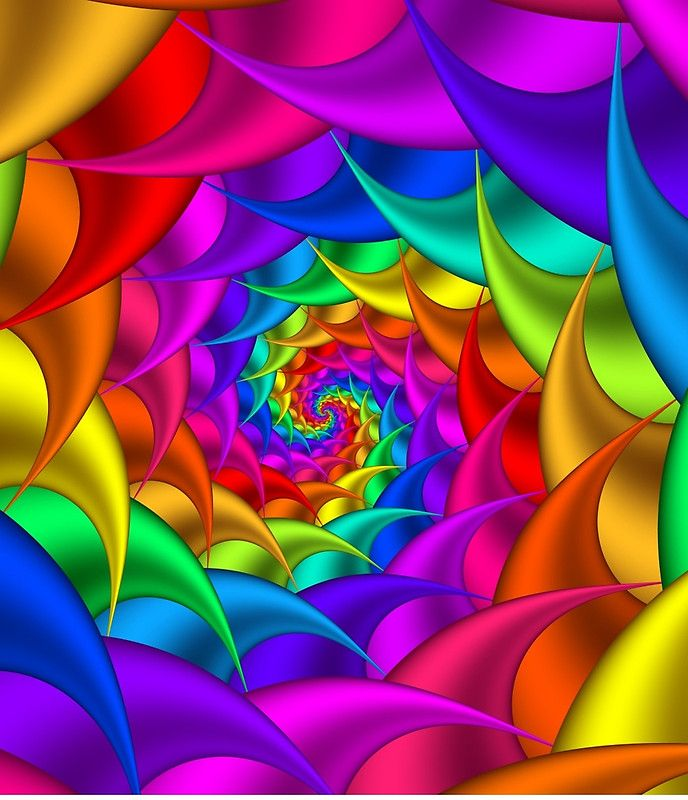 Psychedelic Rainbow Spiral Mini Skirt By Kitty Bitty In 2021 Rainbow Art Colorful Art Colors And Emotions