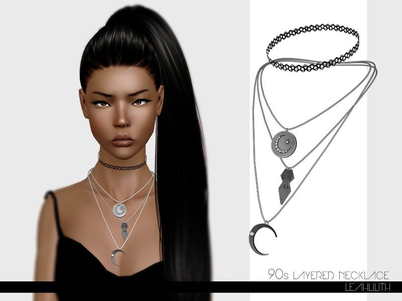 avant-garde de l'époque site officiel profiter du prix de liquidation Leah Lillith's LeahLillith 90s Layered Necklace | sims ...