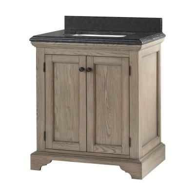Home Decorators Collection Cedar Cove 30 In Vanity In Distressed With Granite Vanity Top In