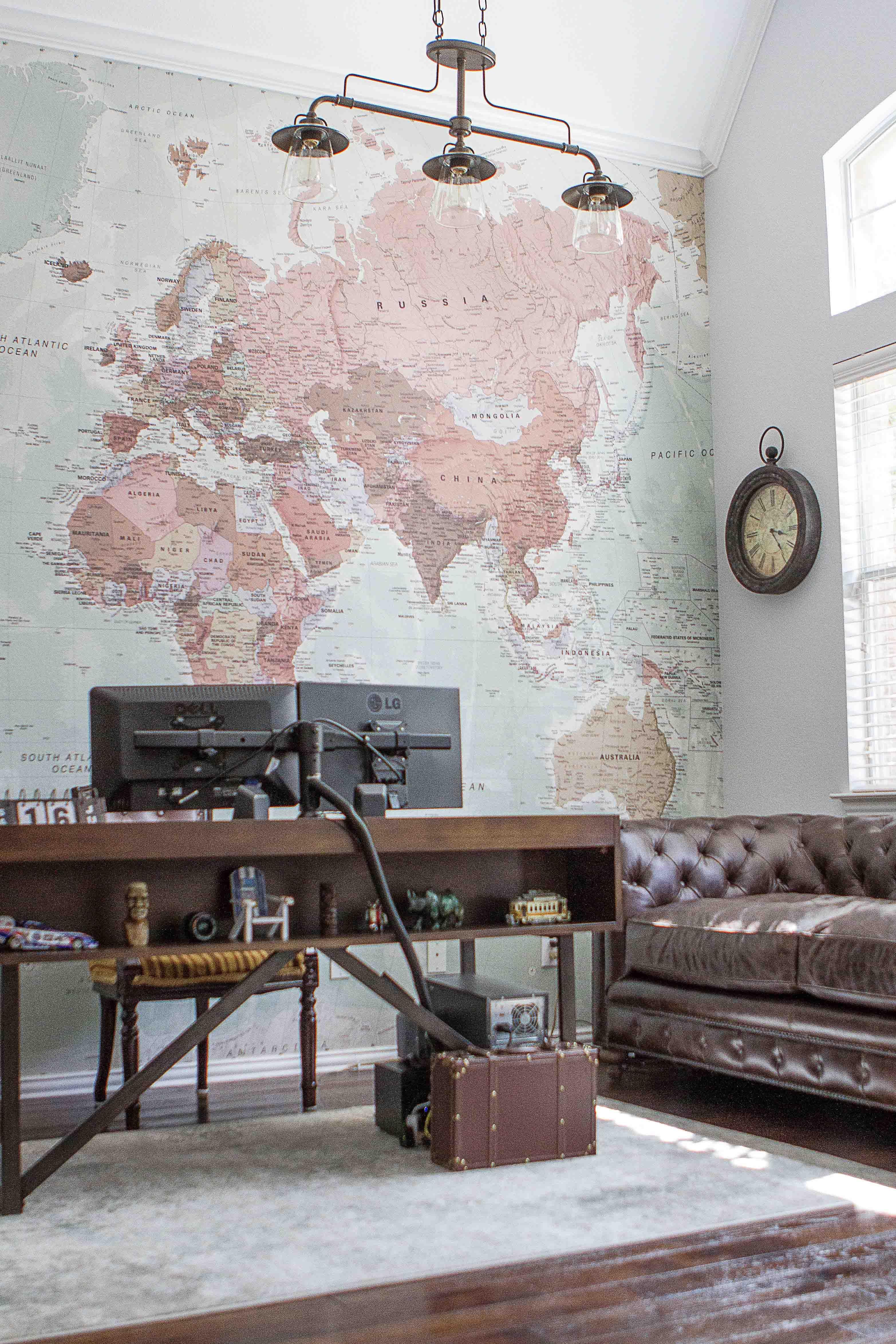 Classic World Map Wallpaper | Stylish Map Mural | MuralsWallpaper #worldmapmural