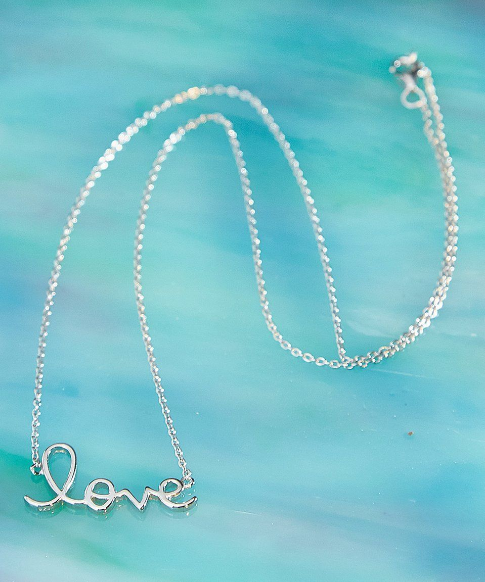 Take a look at this Royal Chain Sterling Silver 'Love' Pendant Necklace today!