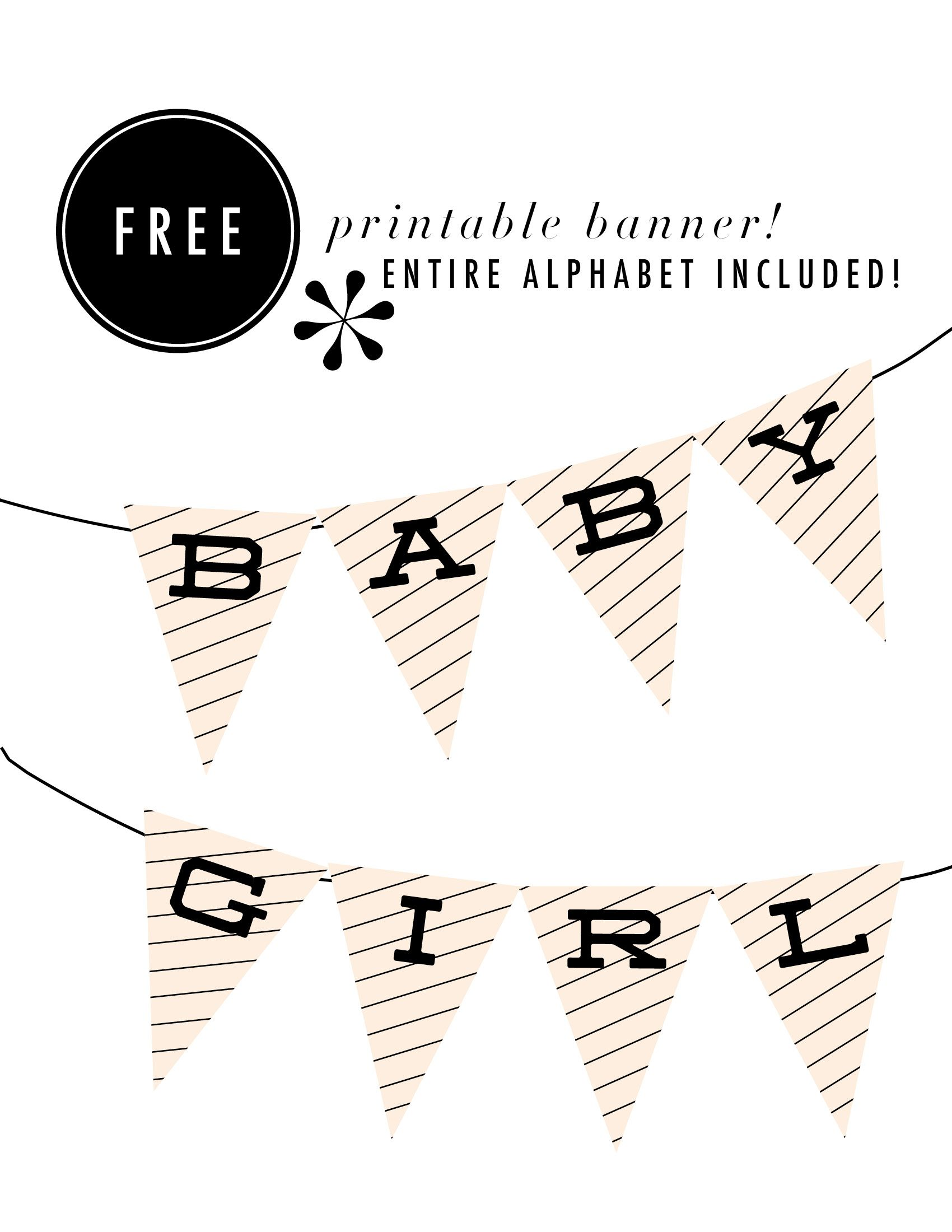 Baby Girl Banner  Martha Who    Banners Printable