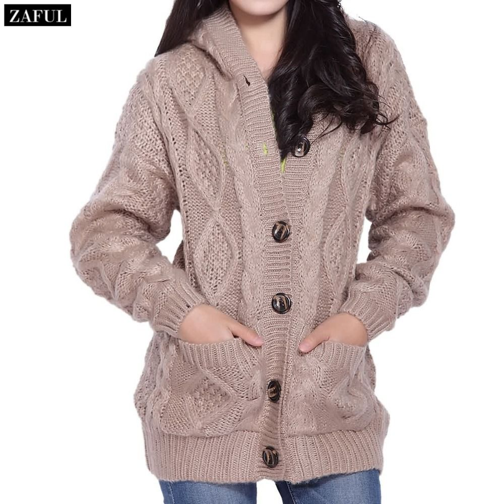 Aliexpress.com : Buy ZAFUL Khaki Grey Knitted Long Cardigan ...