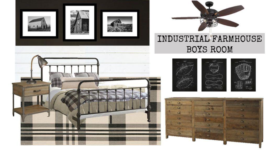 Braden S Industrial Farmhouse Big Boy Room Ideas House Of