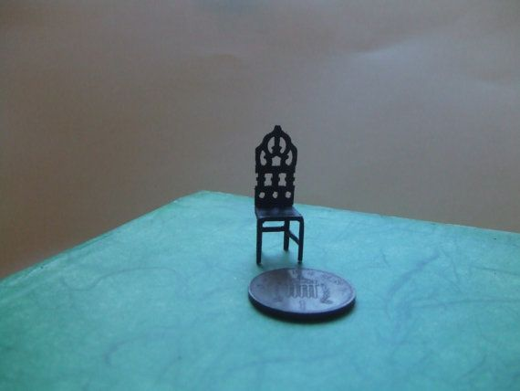 Dollhouse+Gothic+Chair+Dining+room+Gothic+by+LaPetiteMaisonDAmour,+£5.00