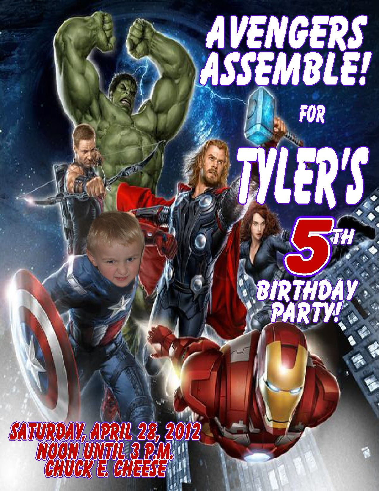 Avengers Personalized Photo Birthday Invitations 2 Avengers Party Invitation Avengers Birthday Birthday Card Template