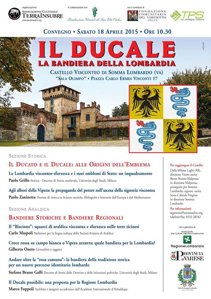 """Italia Medievale: """"Il Ducale. La Bandiera della Lombardia"""", convegno a Somma Lombardo (VA)"""