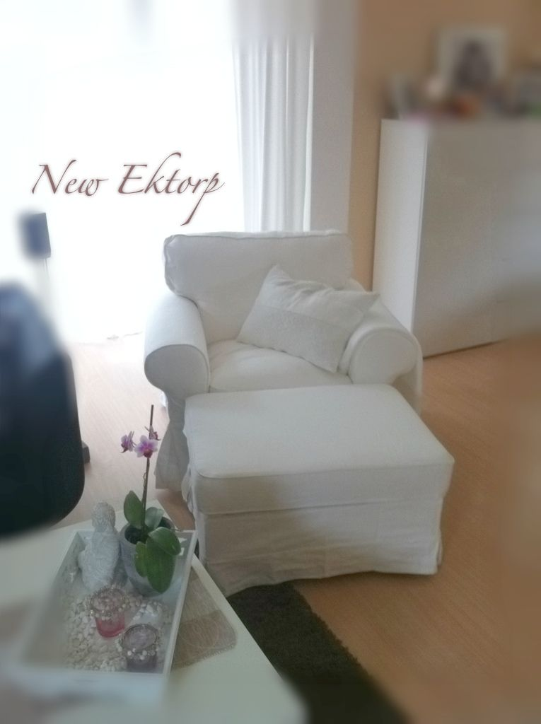 Ikea Ektorp Sessel Mit Bromma Hocker In Weiss Ektorp Armchair