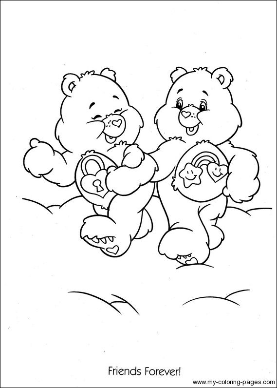 secret bear coloring pages care bears | Care Bears Coloring-18 | Crafty (80's Care Bears) Coloring ...