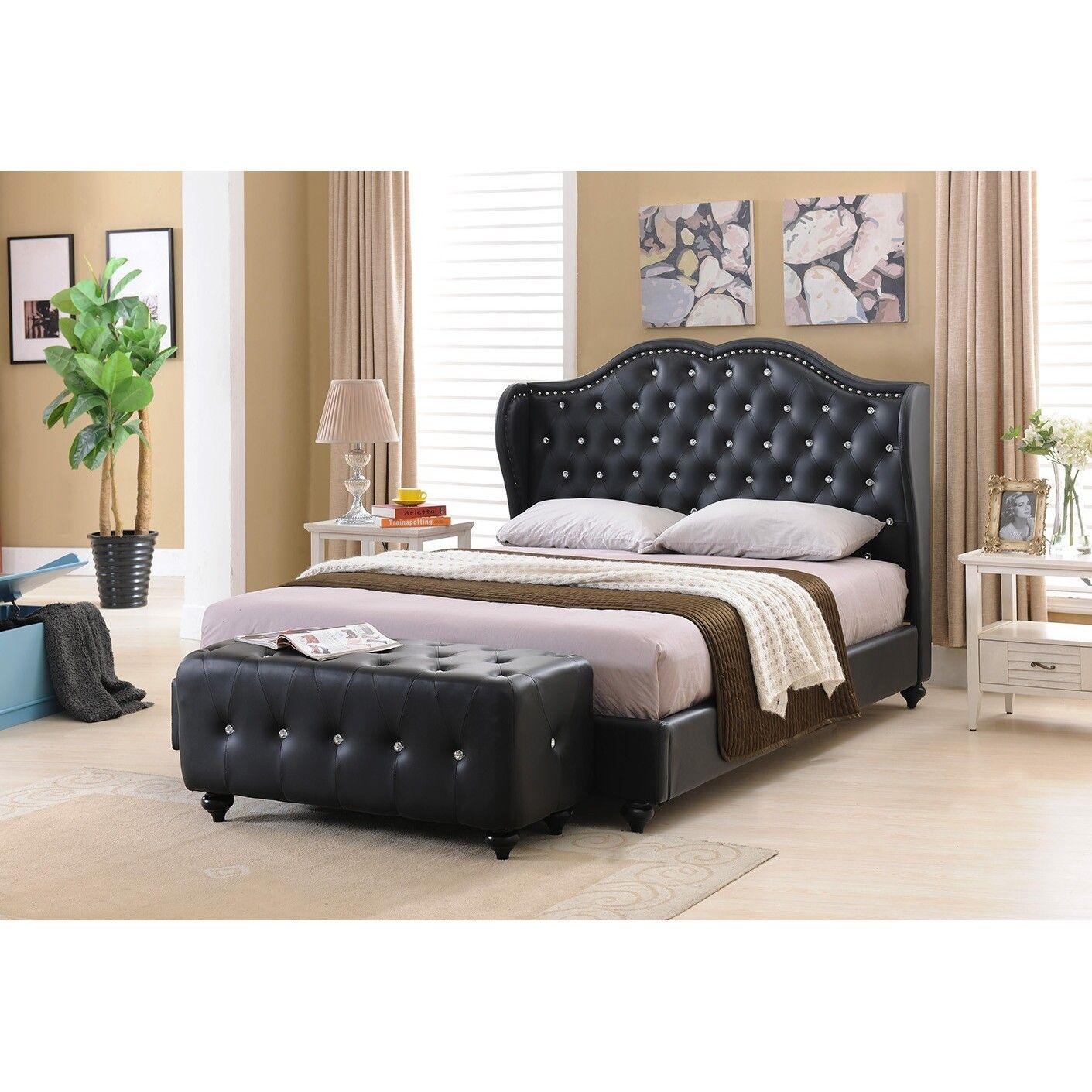 K & B B5110K King Upholstered Bed