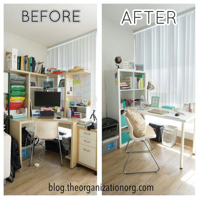 Good Home Office Makeover! Ikea, HomeGoods, TJ Maxx, Pinterest   The  Organization Organization