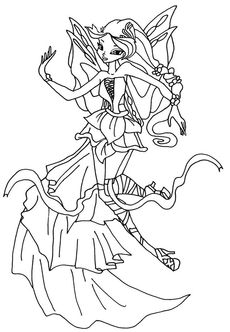 Harmonix Winx Omalovánky Coloring Pages