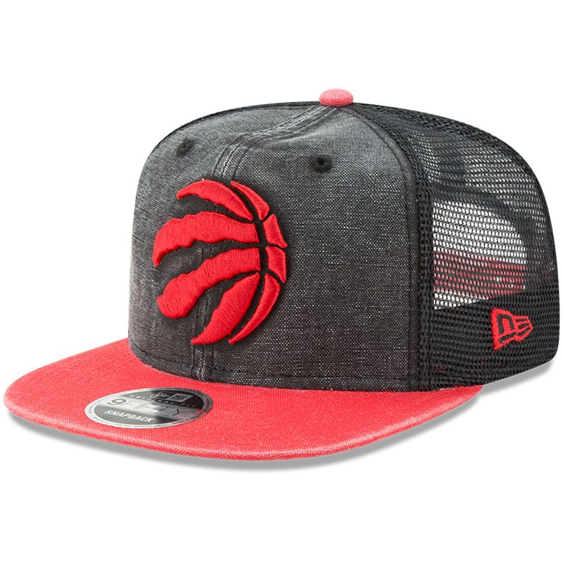 Toronto Raptors New Era Rugged Trucker 9FIFTY Original Fit Adjustable Hat -  Red 3ddb3f92e