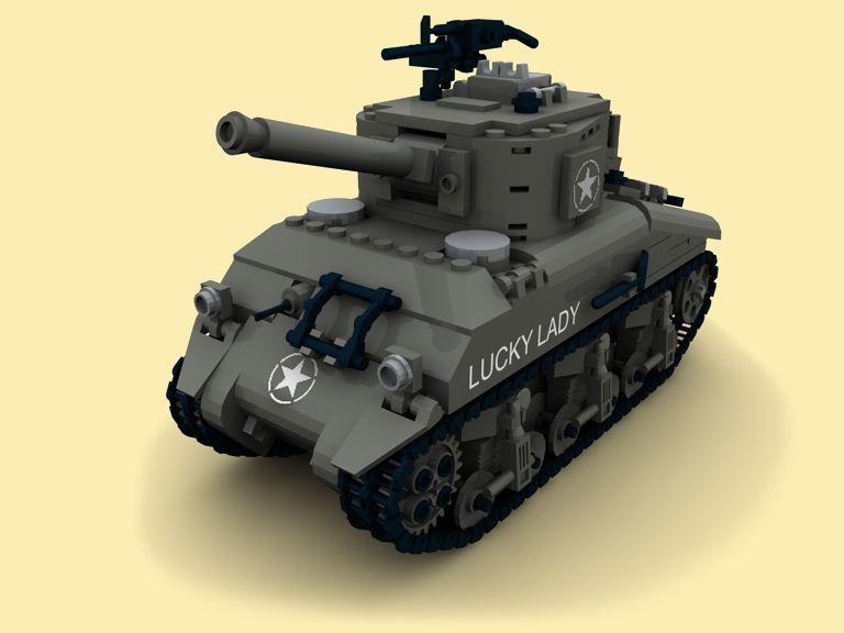 custom instruction sherman m4a2 wwii ww2 army tank pdf made of lego
